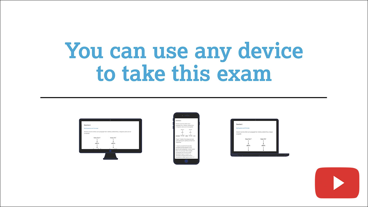 College Board: AP Online Exams walkthrough video
